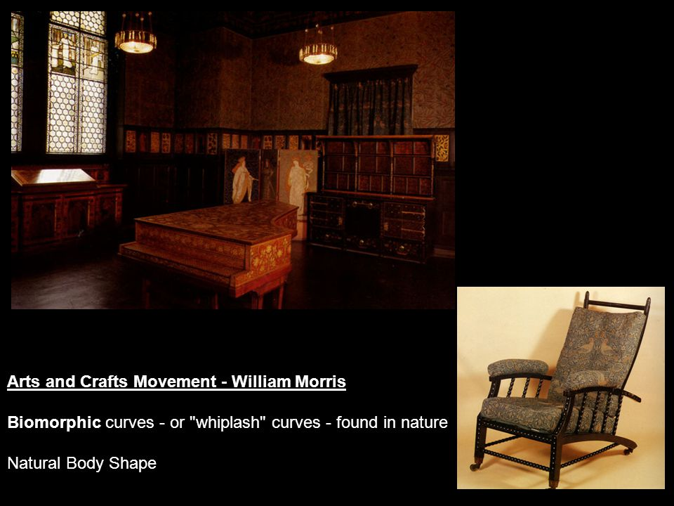 Arts and Crafts Movement - William Morris Biomorphic curves - or