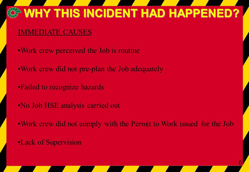 6 WHY THIS INCIDENT HAD HAPPENED.