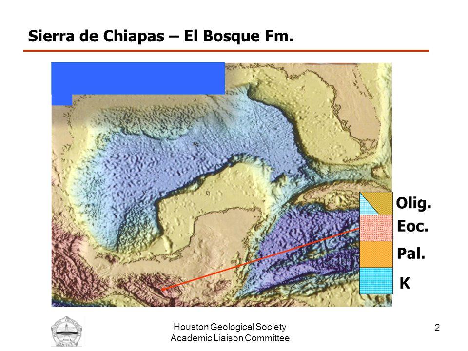 Houston Geological Society Academic Liaison Committee 3 Eocene Unconformity - Veracruz Foldbelt