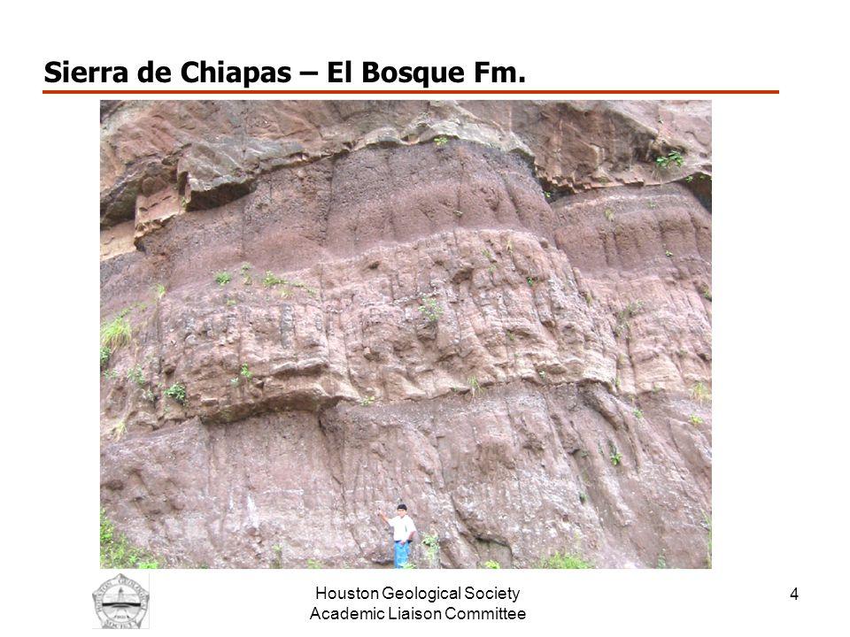 Houston Geological Society Academic Liaison Committee 5 Sierra de Chiapas – El Bosque Fm.