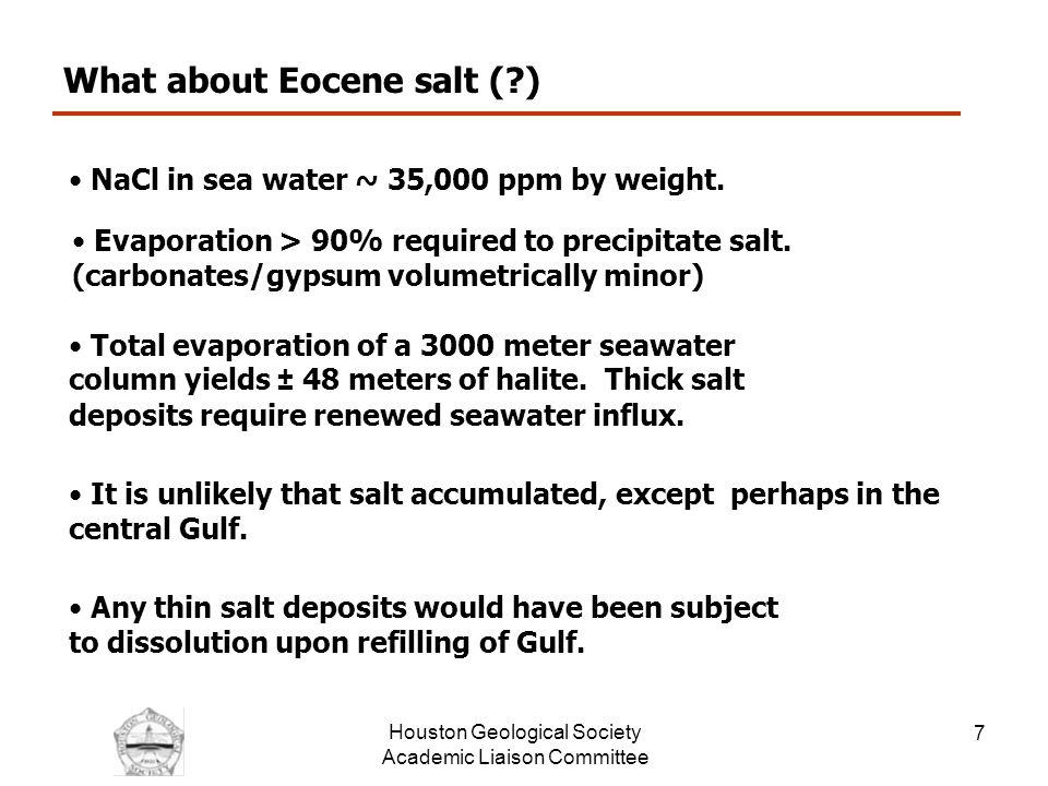 Houston Geological Society Academic Liaison Committee 8 Lower Tertiary Source Rocks