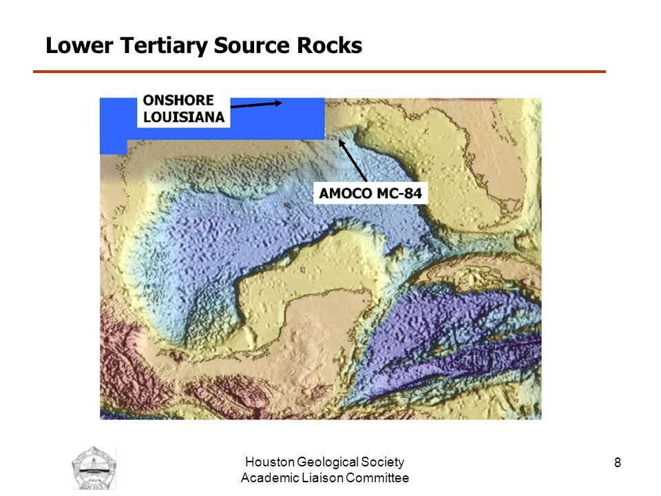 Houston Geological Society Academic Liaison Committee 9 Lower Tertiary Source Rocks; in Point Coupe and St Landry Parishes, LA Data From Sassen and Chinn, 1990 Fm.