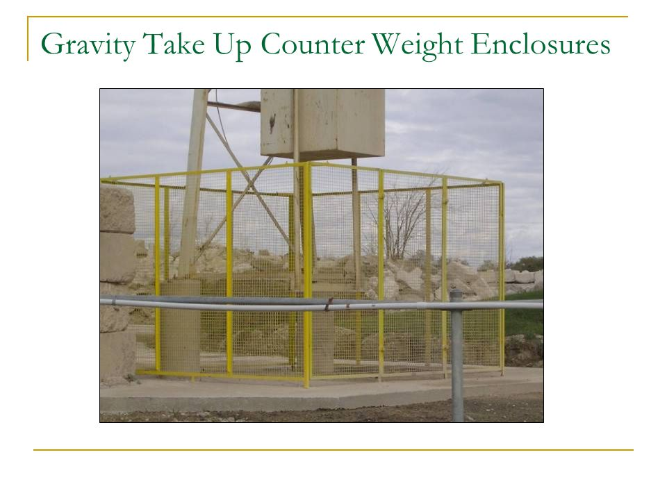 Gravity Take Up Counter Weight Enclosures