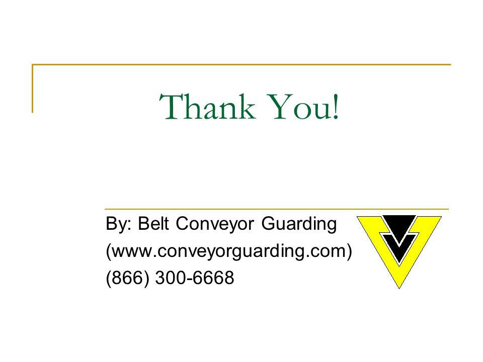 Thank You! By: Belt Conveyor Guarding (www.conveyorguarding.com) (866) 300-6668