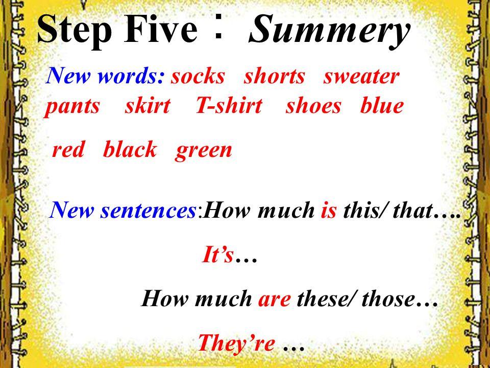 (三)选择 1.—____________ are the shoes.—They are green.