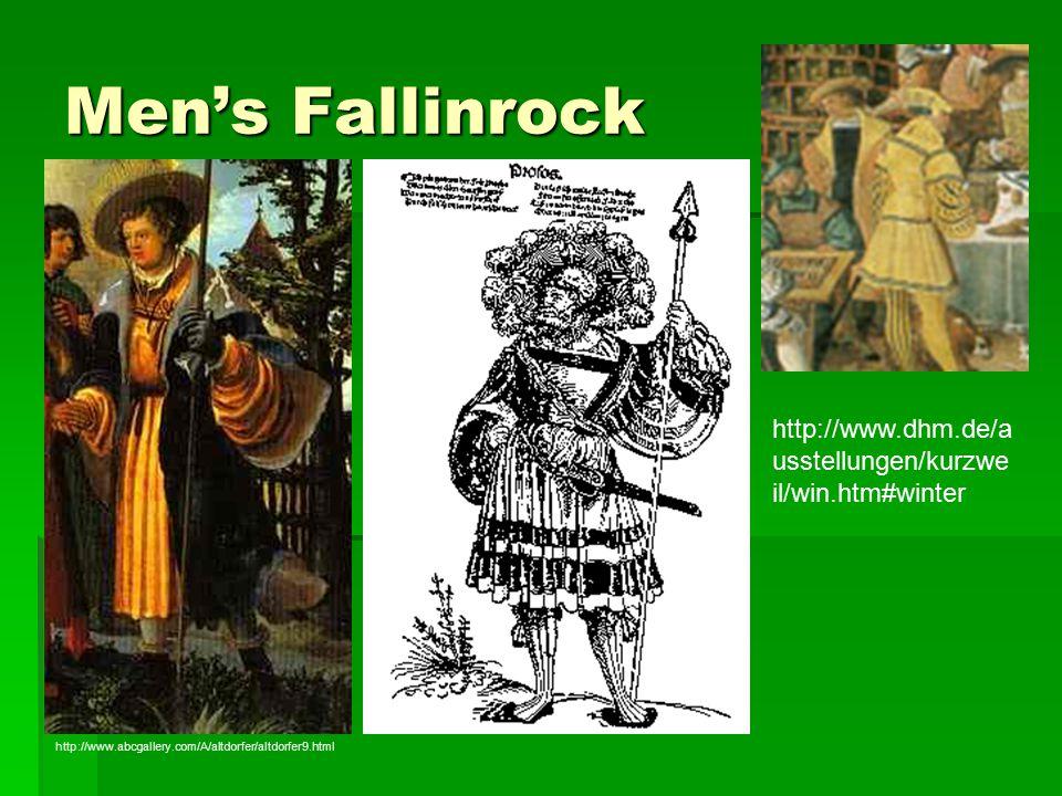 Men's Fallinrock http://www.dhm.de/a usstellungen/kurzwe il/win.htm#winter http://www.abcgallery.com/A/altdorfer/altdorfer9.html