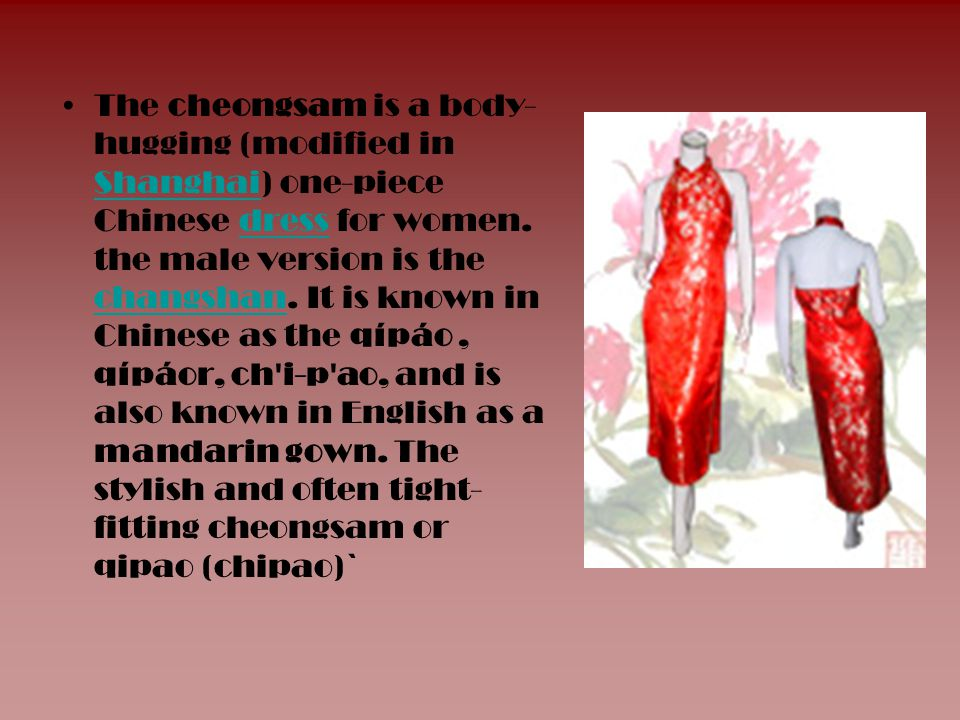 Tunic suit The ancient Chinese also saw a dominance of the tunic suit.