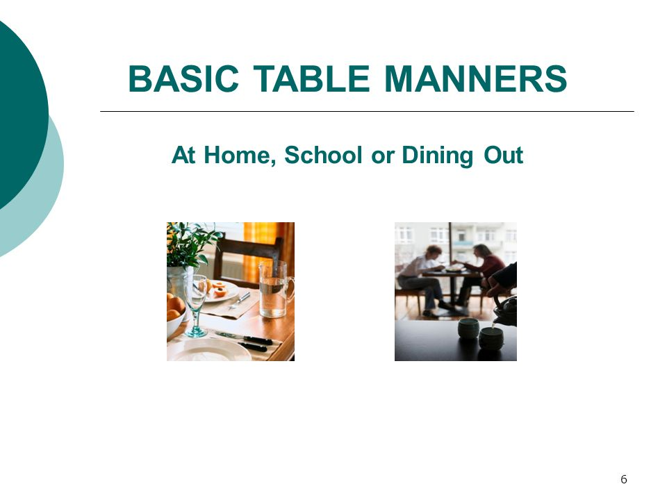 7 A great trick to help you remember the order, left to right for a basic table setting is to just picture the word FORKS. F for Fork O for Plate (the shape) R ight of Plate K for Knife S for Spoon Table Setting Guide BASIC PLACE SETTING