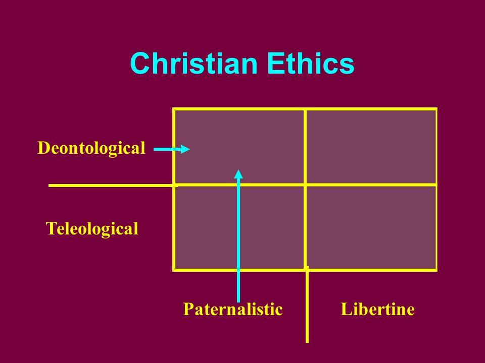 Christian Ethics Deontological Teleological PaternalisticLibertine
