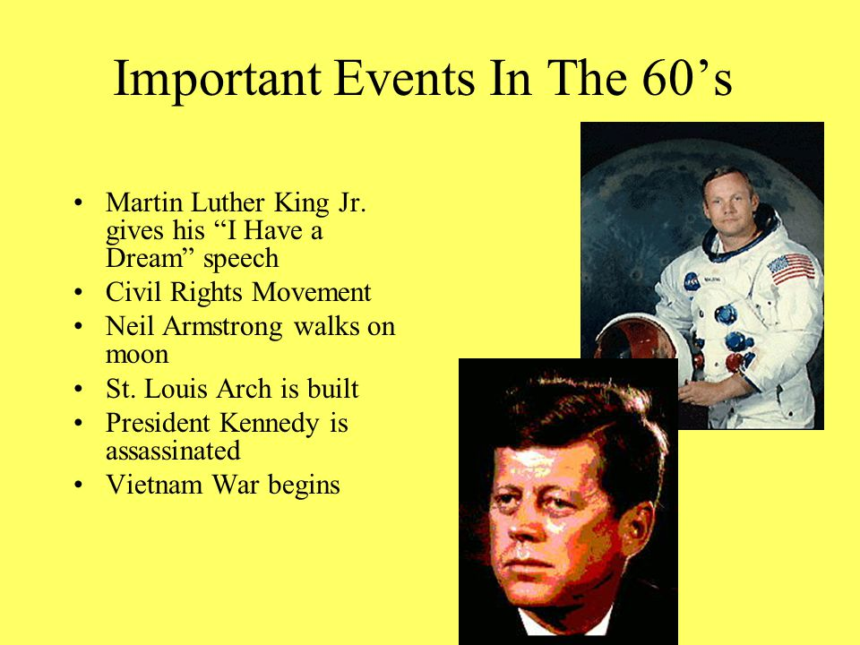 Important Events In The 60's Martin Luther King Jr.