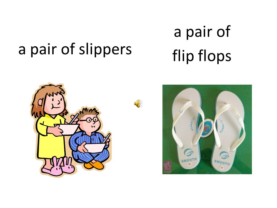 a pair of slippers a pair of flip flops
