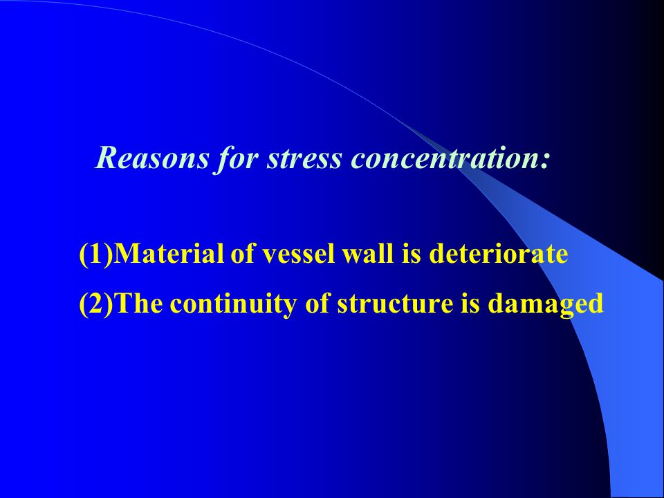 Stress concentration factor:  max —— The maximum stress at the boundary of opening  * —— The maximum basic stress of shell Small opening in plate 