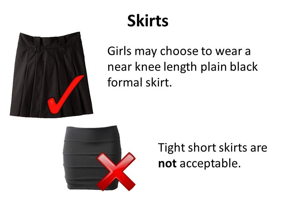 Shoes Students can wear plain black shoes.