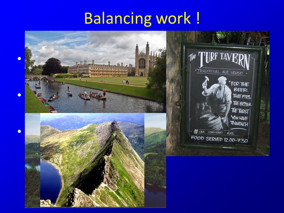 Balancing work . Enjoy this life-time opportunity Balance your work !.