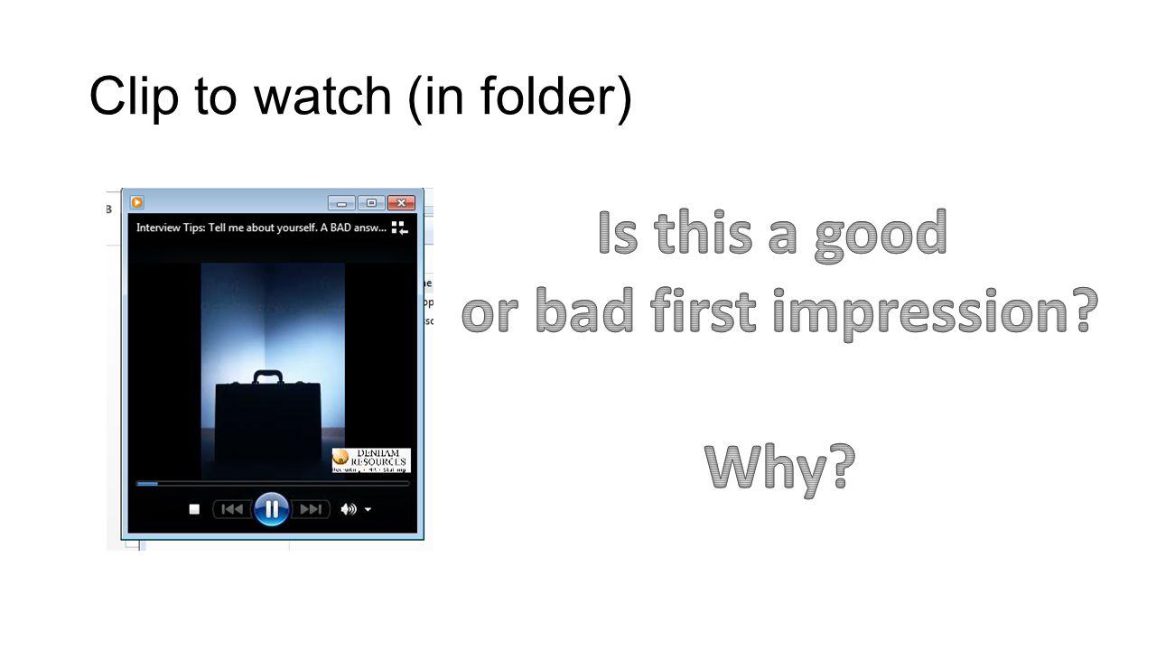 Clip to watch (in folder)