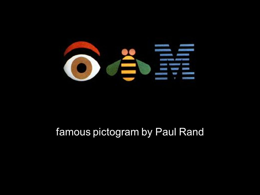 famous pictogram by Paul Rand