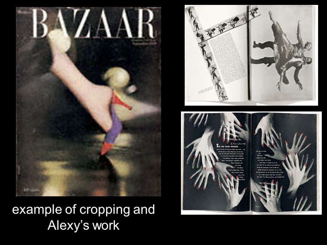 example of cropping and Alexy's work