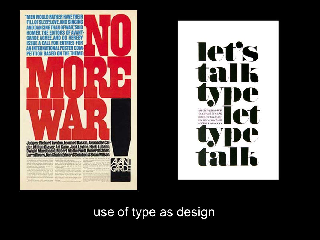 use of type as design