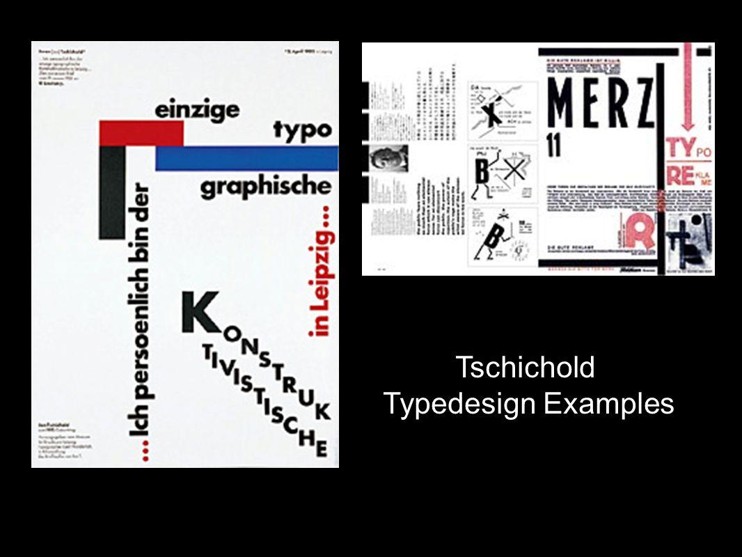 Tschichold Typedesign Examples