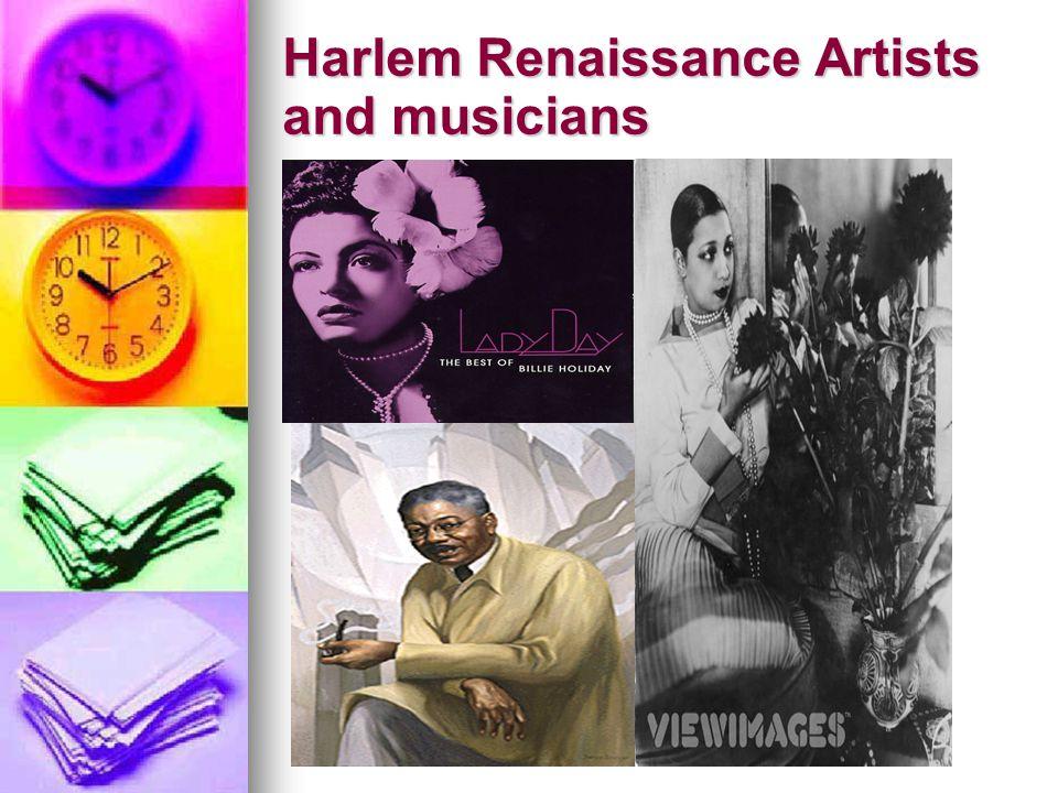 Harlem Renaissance Artists and musicians