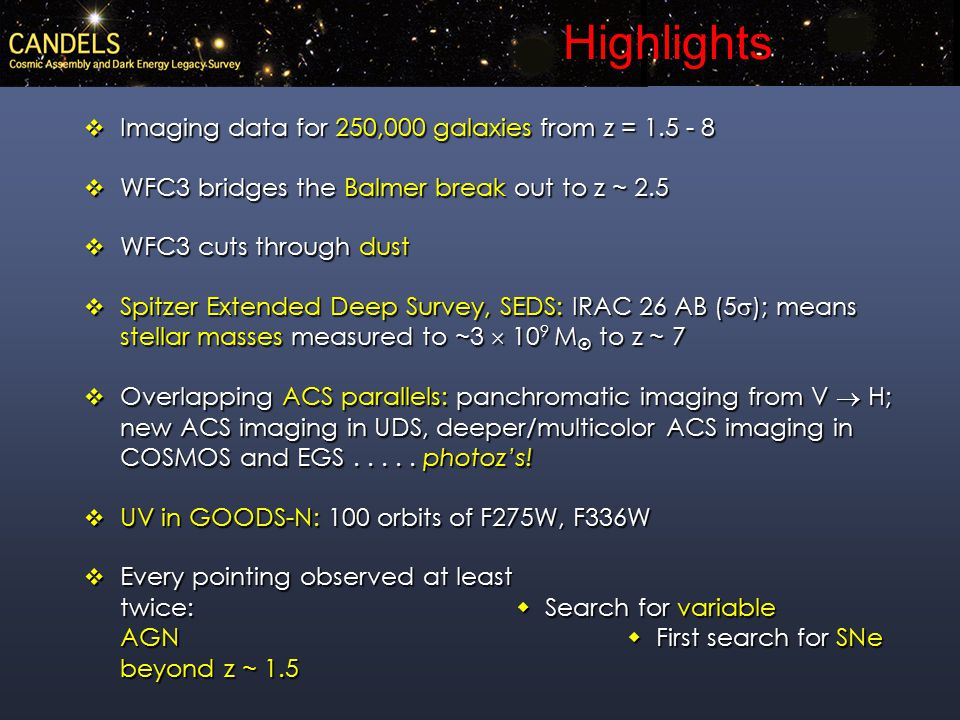 New WFC3 z   candidates Yan et al. 2010