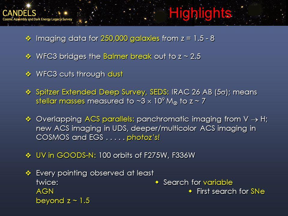 Fireworks ERS2 Catalog z spec = 2.431log(mass) = 10.210 Fireworks UDF Catalog z spec = 1.998log(mass) = 10.689 ViH 3 ViH Old stars?