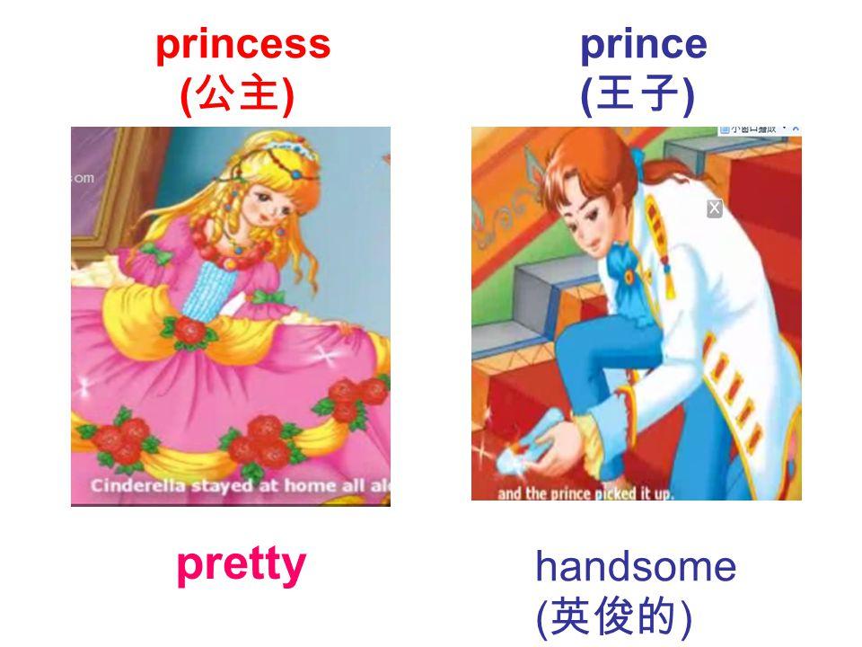 pretty handsome ( 英俊的 ) princess ( 公主 ) prince ( 王子 )