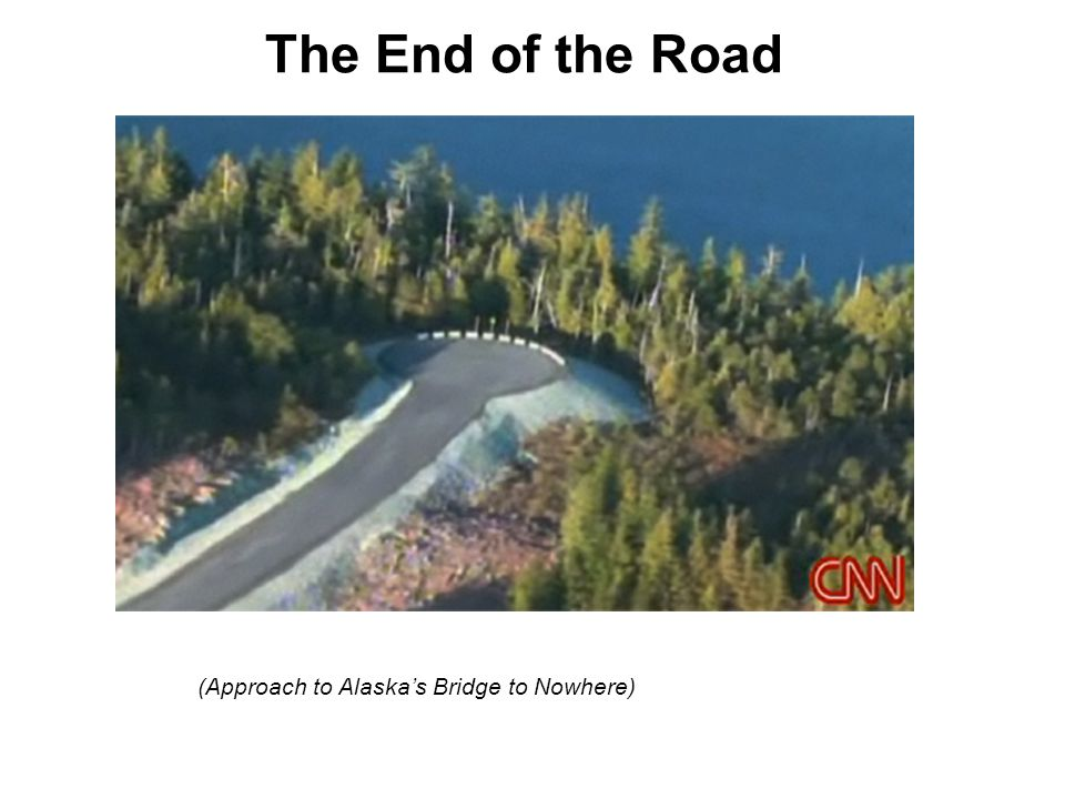 The End of the Road (Approach to Alaska's Bridge to Nowhere)