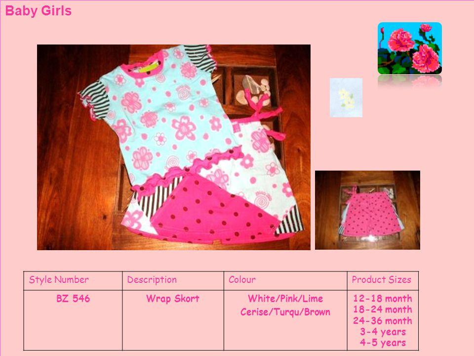 Style NumberDescriptionColourProduct Sizes BZ 553Printed LeggingsWhite/Pink/Lime Cerise/Turqu/Brown Toddler Girls