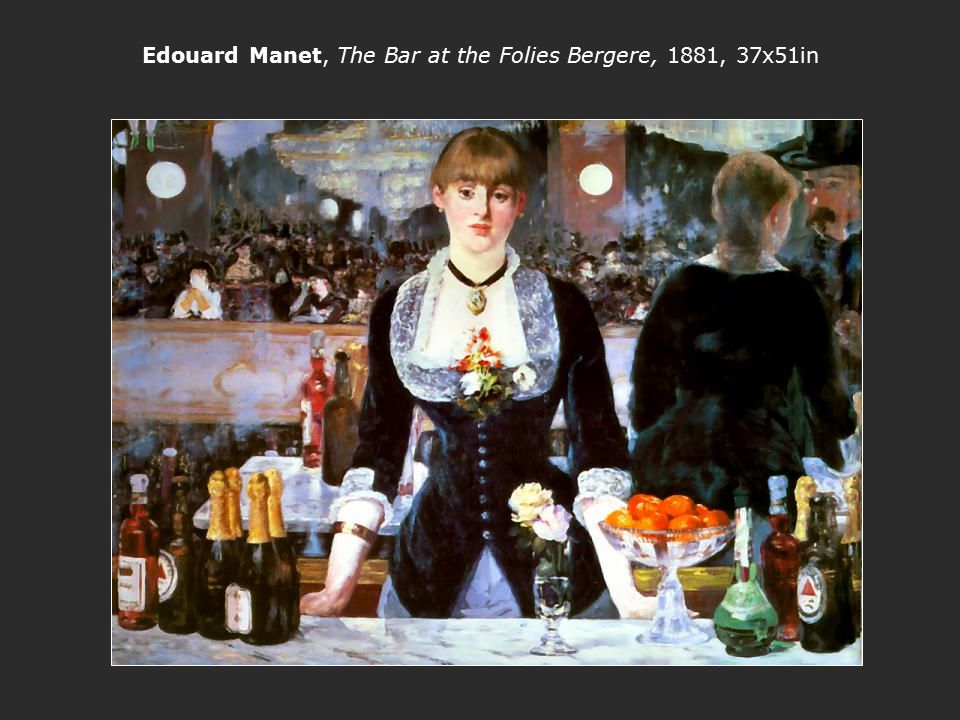 Edouard Manet, The Bar at the Folies Bergere, 1881, 37x51in