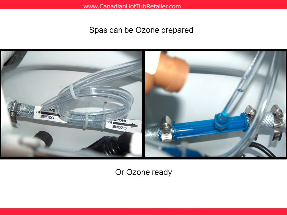 Spas can be Ozone prepared Or Ozone ready