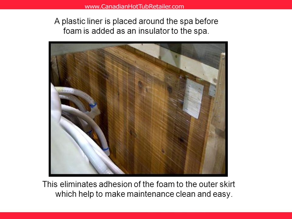 This eliminates adhesion of the foam to the outer skirt which help to make maintenance clean and easy.