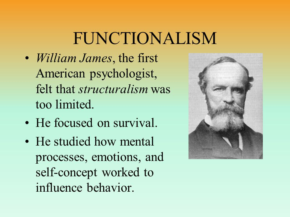 Darwin's influence on Psych Human/Animal Continuity Individual Differences Adaptability Importance of Environment Emphasis on Change