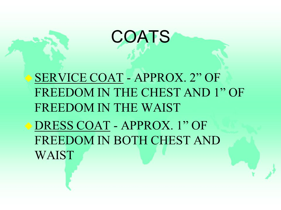 COATS u SERVICE COAT - APPROX.