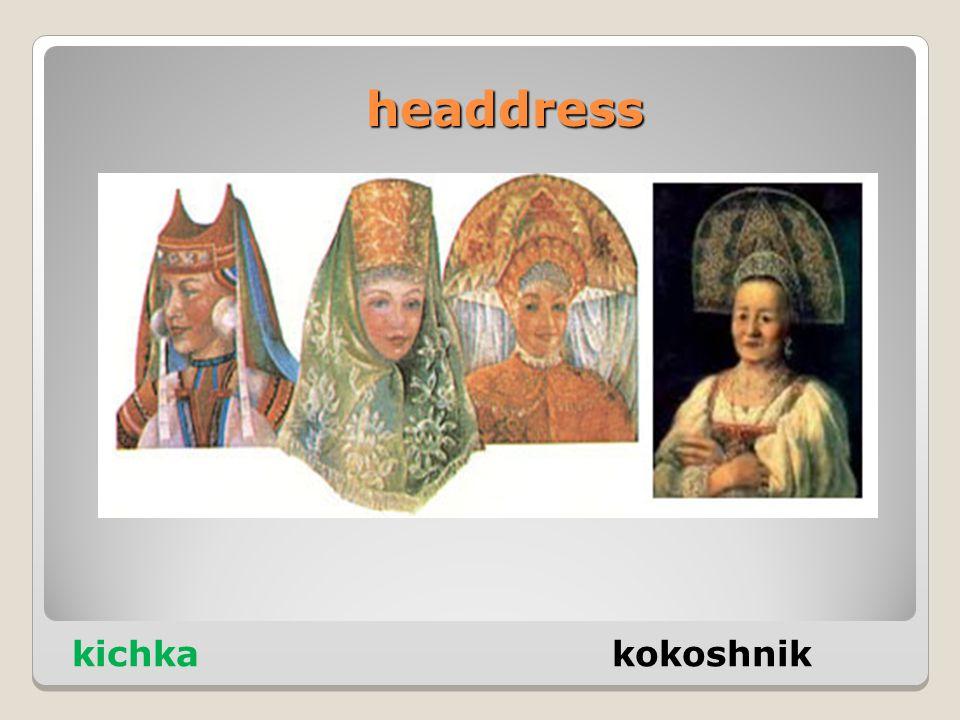 headdress kichka kokoshnik