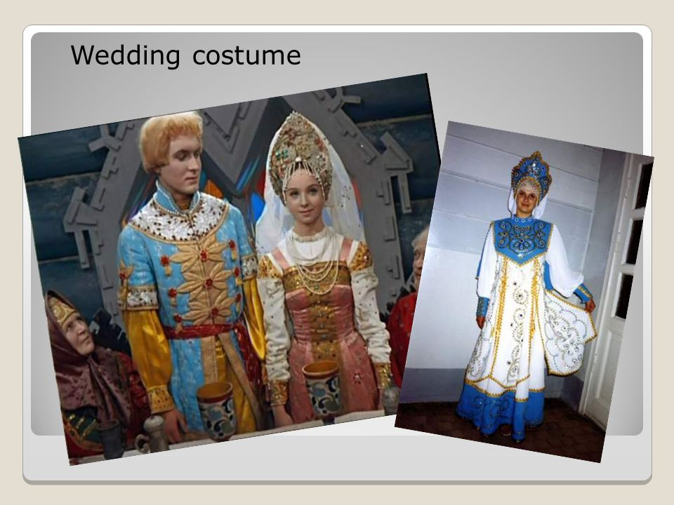 Wedding costume