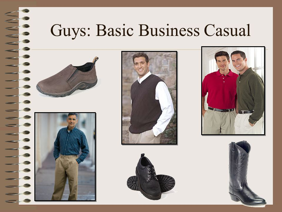 Guys: Basic Business Casual