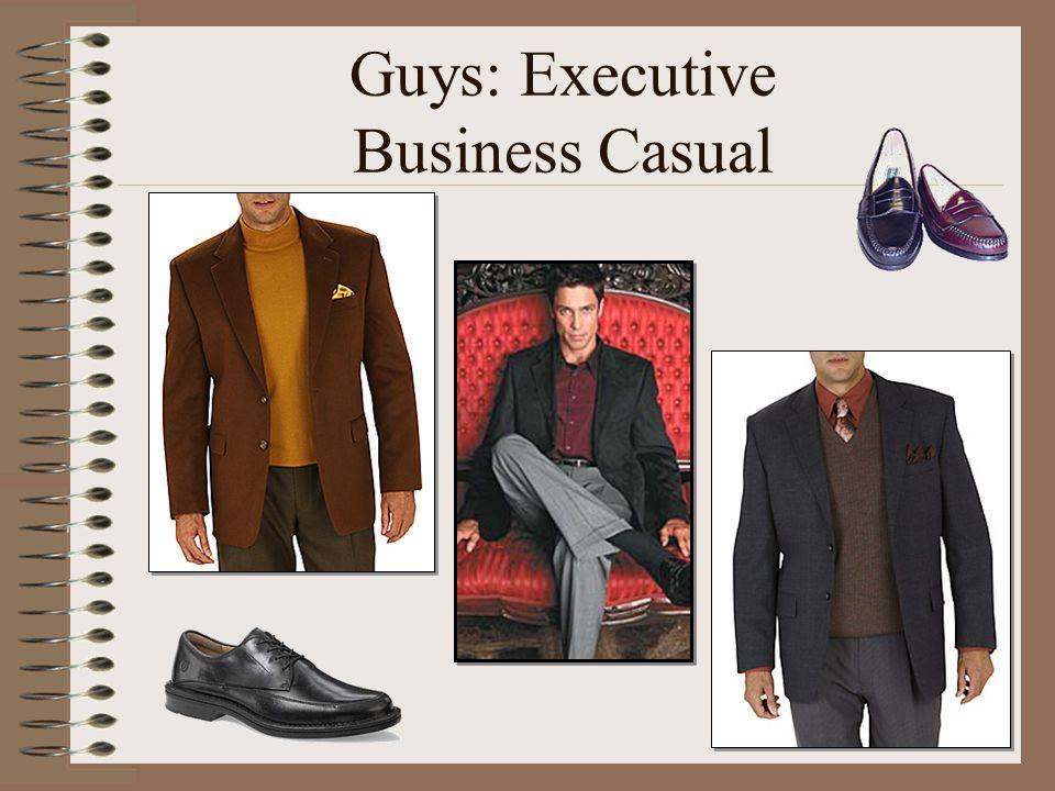 Guys: Executive Business Casual