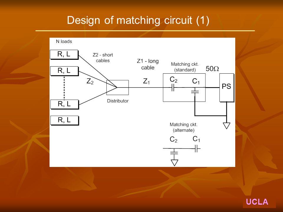 Design of matching circuit (1) UCLA