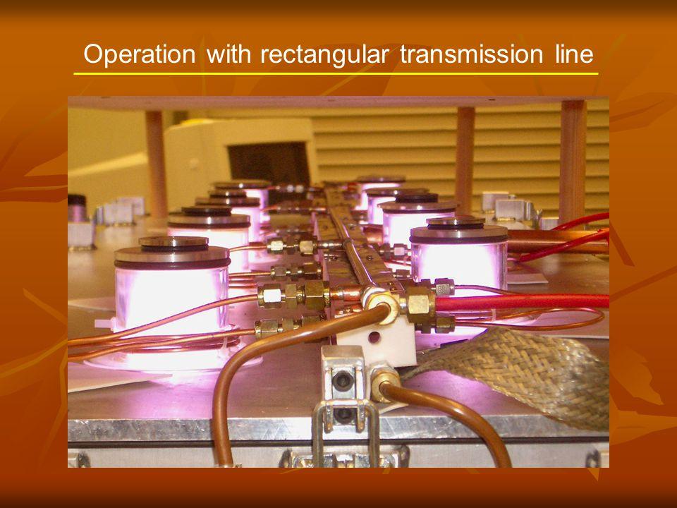 Operation with rectangular transmission line