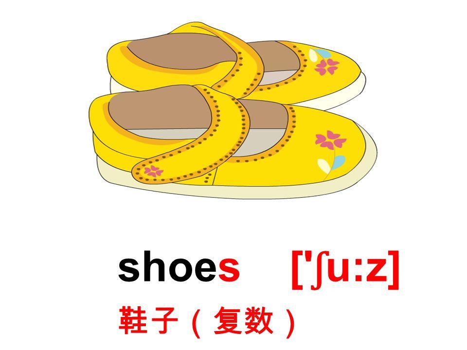 shoes [ ʃ u:z] 鞋子(复数)