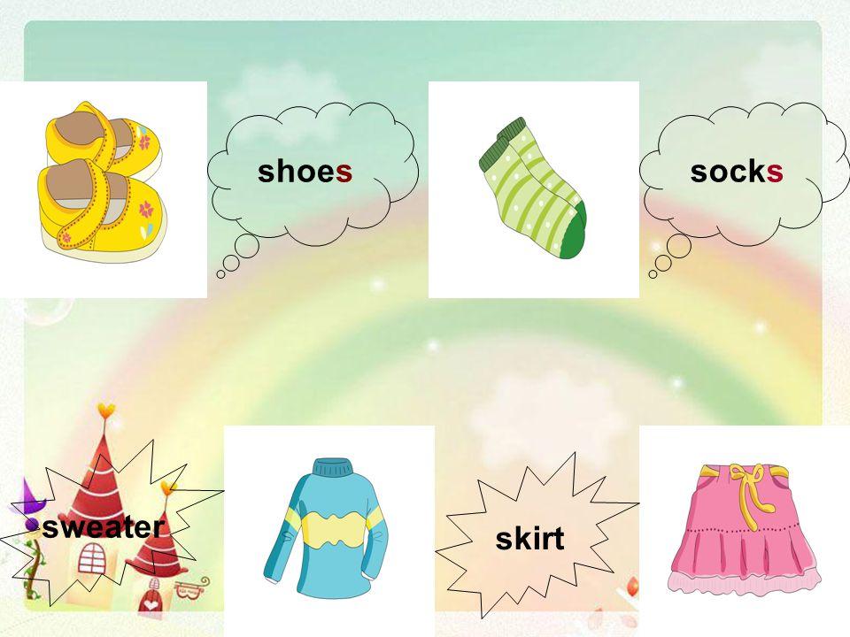 shoessocks sweater skirt
