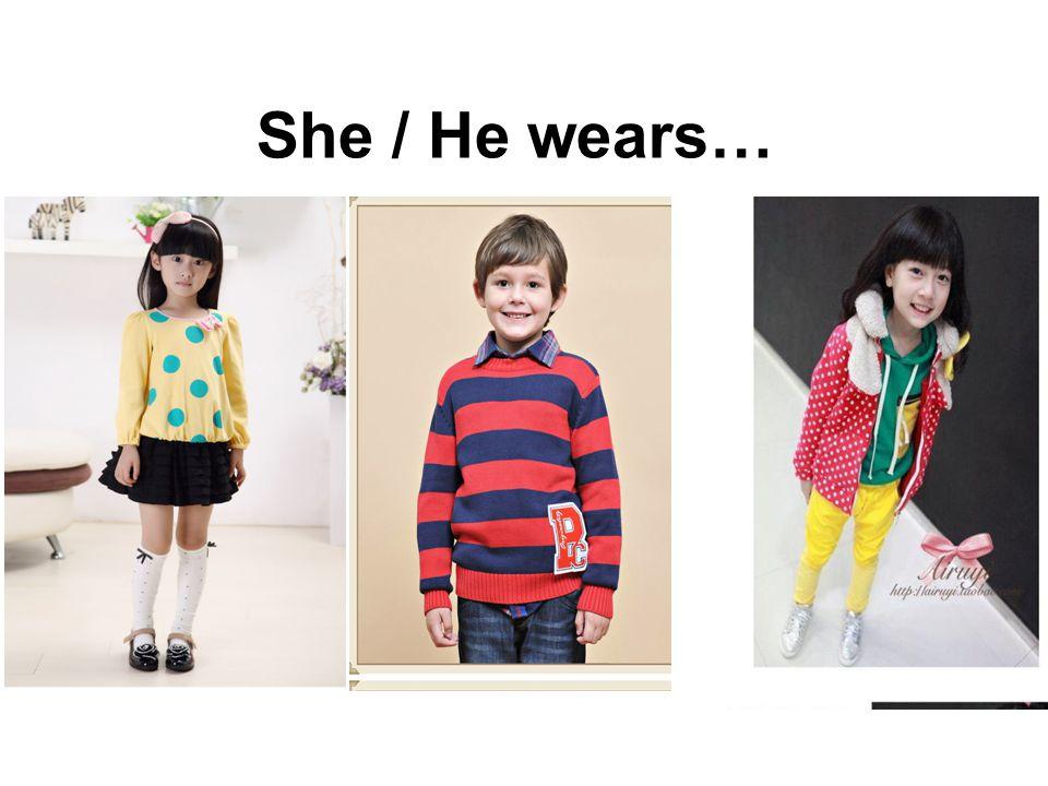 She / He wears…