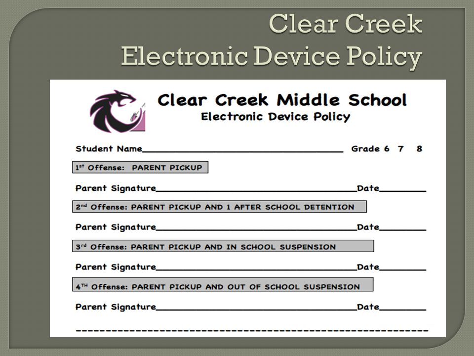 Clear Creek Electronic Device Policy