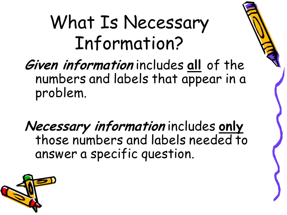 What Is Necessary Information.