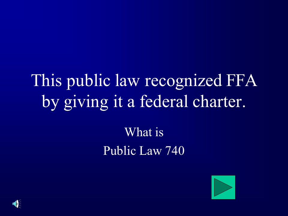 The FFA creed was adopted at this convention What is The 3 rd National convention