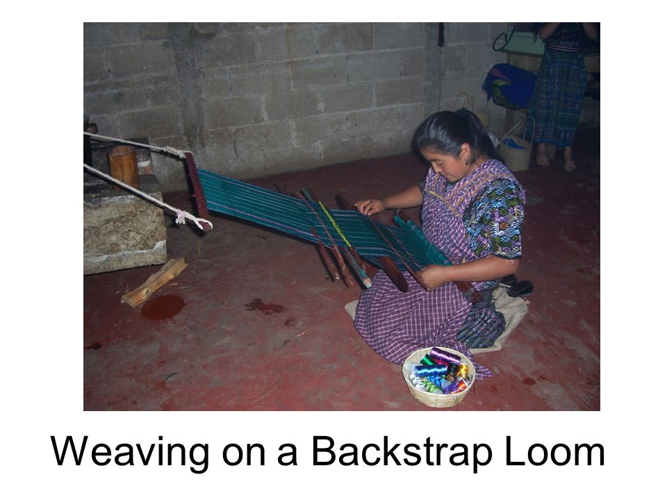 Weaving on a Backstrap Loom