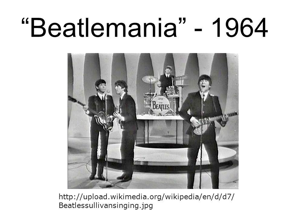 """Beatlemania"" - 1964 http://upload.wikimedia.org/wikipedia/en/d/d7/ Beatlessullivansinging.jpg"