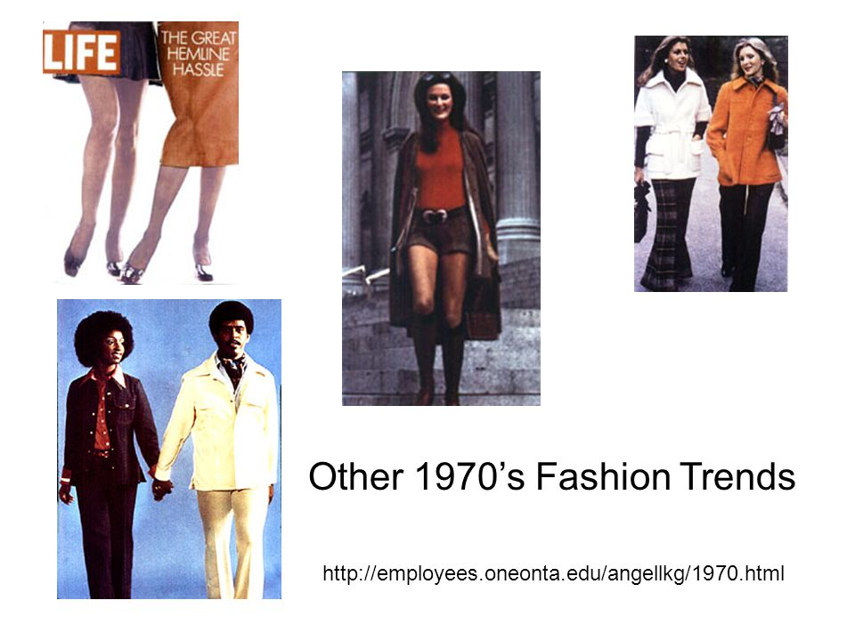 http://employees.oneonta.edu/angellkg/1970.html Other 1970's Fashion Trends