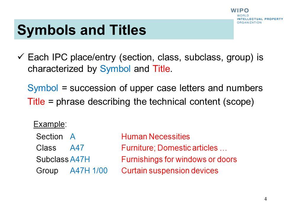 Symbols and Titles 5 Symbols Titles